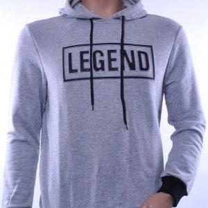 D&A trendy heren sweatshirt met capuchon, D037 Grijs