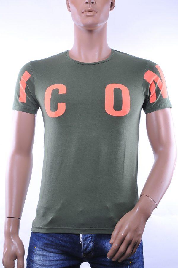 BlackRock trendy ronde hals ICON T-shirt, B271 Khaki